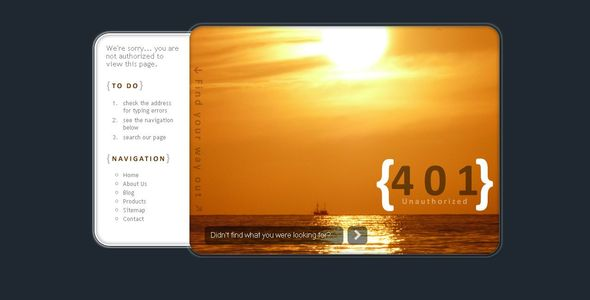 24 Awesome 404 Error Page HTML Templates – Bashooka