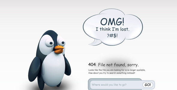 24 awesome 404 error page html templates