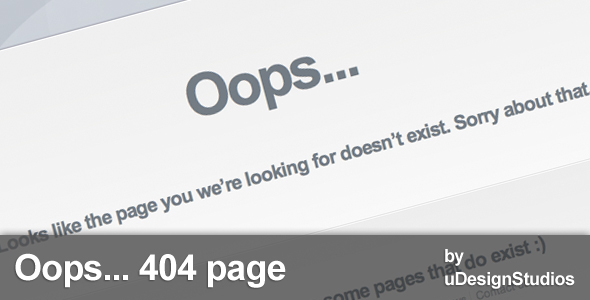 Oops...404 page template