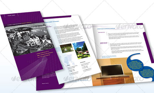 40 high quality brochure design templates web graphic for Four page brochure template