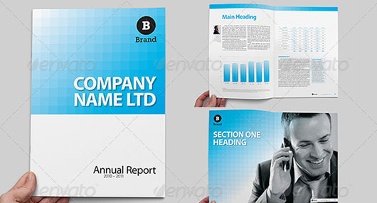 Corporate Report Brochure - A4 and US letter