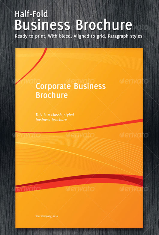 40 high quality brochure design templates web graphic design half hold corporate business brochure flashek Gallery