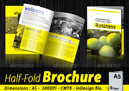A5 Half-fold corporate brochure [4 pages]
