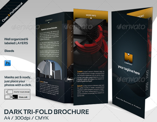 Dark & Clean Tri-Fold