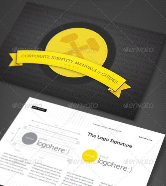 Corporate Identity Manuals and Guides Template