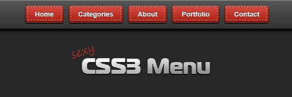 Sexy CSS3 menu