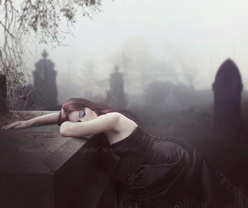 At Night,  my Sadness ...