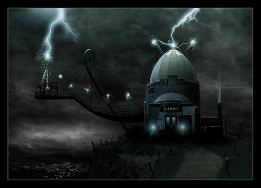 The Lair - matte painting -