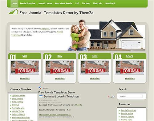 8 websites to download free joomla templates web for Free joomla templates