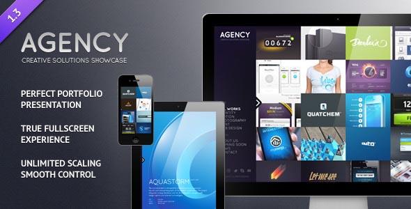 Agency - Fullscreen Portfolio WordPress Theme