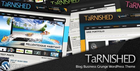 Tarnished: Blog/Business Grunge WordPress Theme
