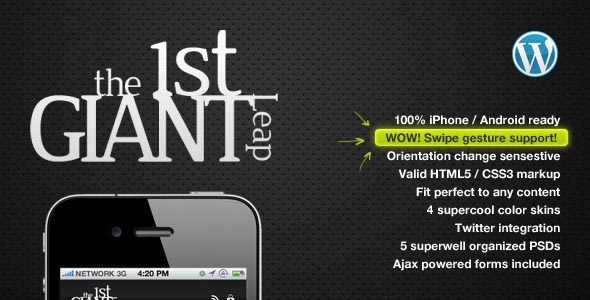 1stGiantLeap Mobile Template WordPress Edition