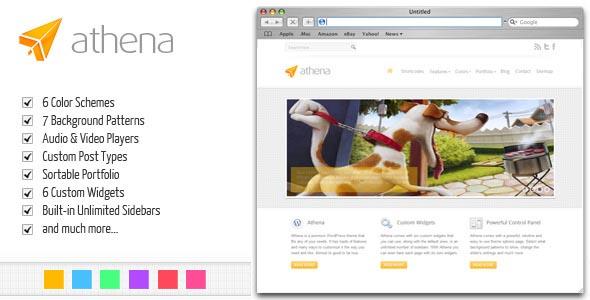 Athena: Premium Business/Portfolio WordPress Theme