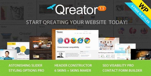 Qreator - Responsive Premium WordPress Theme
