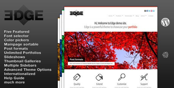 Edge WordPress Portfolio Theme