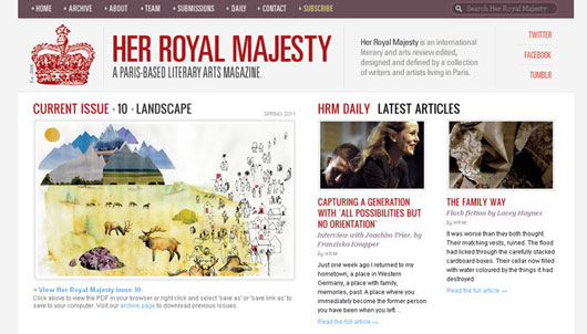 Her Royal Majesty — A Paris-based literary arts magazine