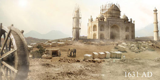 Matte Painting Tutorial of Tajmahal