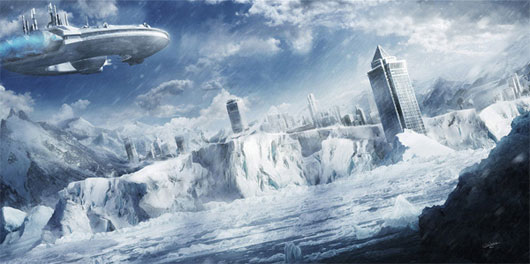 Futuristic Snow City