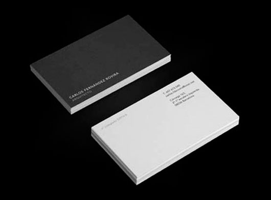Minimalist Architects Business Card