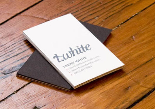 TWhite Design Business Card