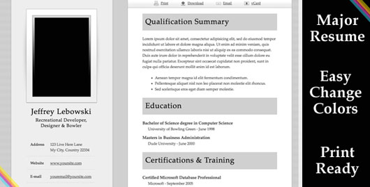 Major - Resume Template