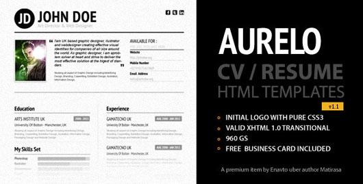 Aurelo Resume / CV Premium Template