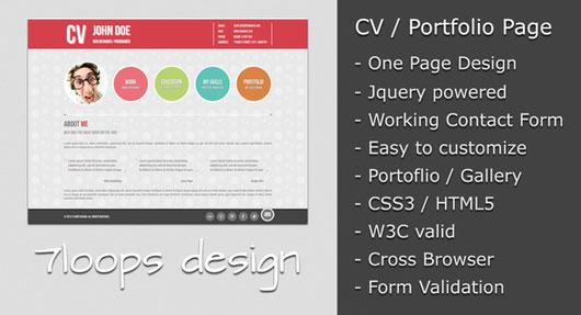 Good Symplicity CV / Portfolio Page