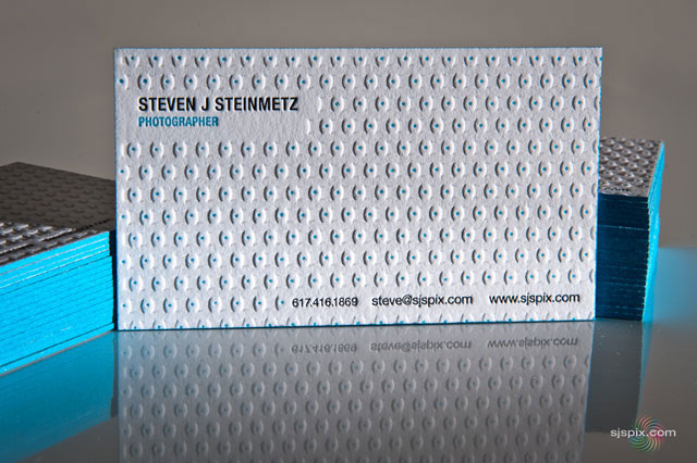Steven J Steinmetz, Photographer Letterpress Business Cards