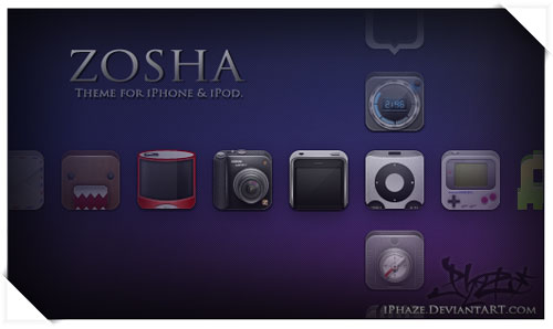 Zosha iPhone Theme