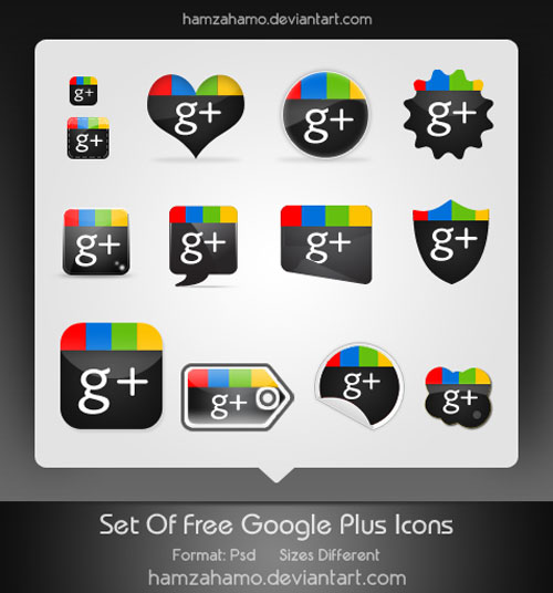 Free Google Plus Icons Set