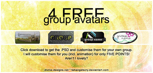 4 FREE group avatars
