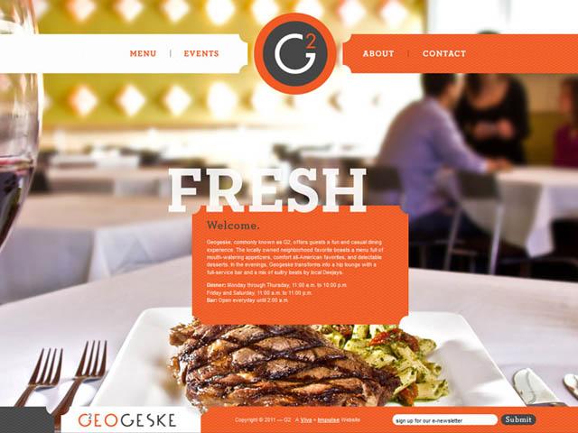 Delightful restaurant website designs web graphic