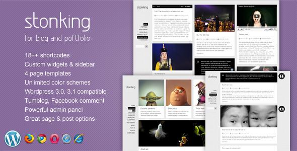 Stonking - Portfolio & Blog WordPress Theme