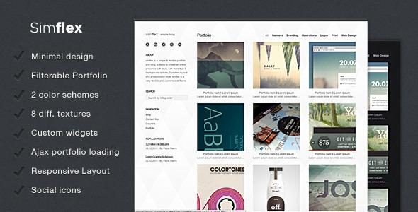 Simflex - minimalist blogging theme