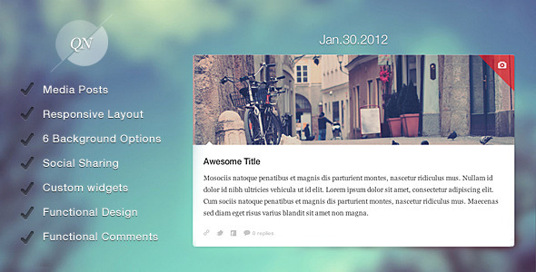 Quicknote - clean & functional blog