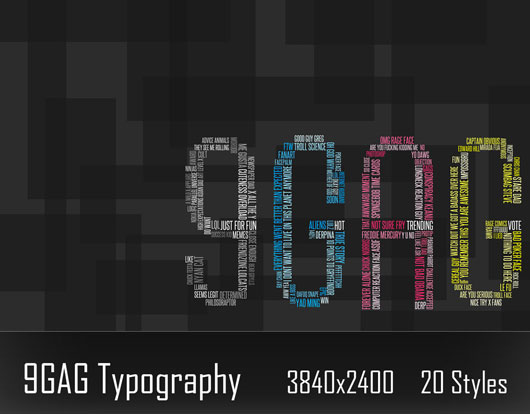 9GAG Typography wallpaper
