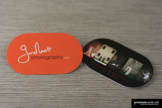 Gary Nevitt Photography - Diecut Business Cards