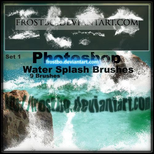 Water Splash Brushes PS SET 1