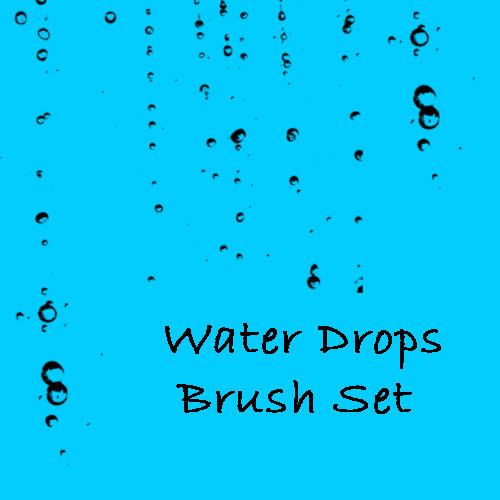 Rain Water Drops Photoshop Brushes Water Drops Brush Set