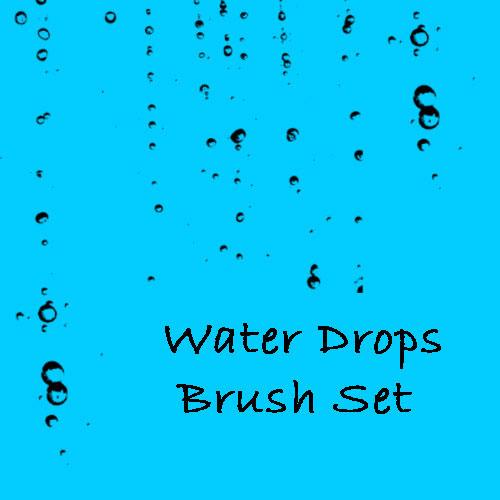 Water Drops Brush Set