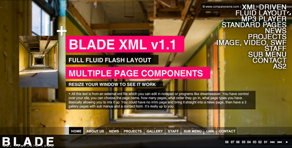 BLADE XML Full Website Template