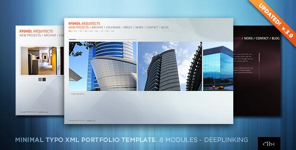 Minimal Typo XML Portfolio Template