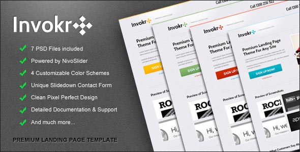 Invokr Premium Landing Page