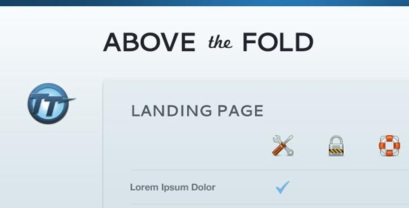 Above The Fold — Compact Landing Page