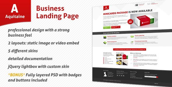 Aquitaine - Business Landing Page