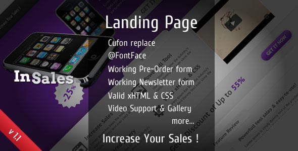 InSales Landing Page