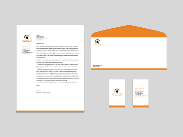 use prolines for letterhead designing