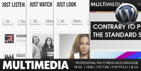Multimedia - Music, Video, Picture, Blog  WP