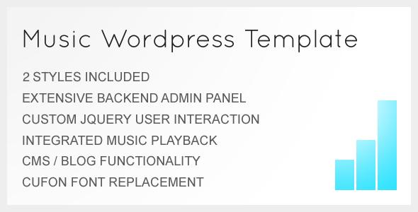 Music WordPress Template - For Musicians / Artists