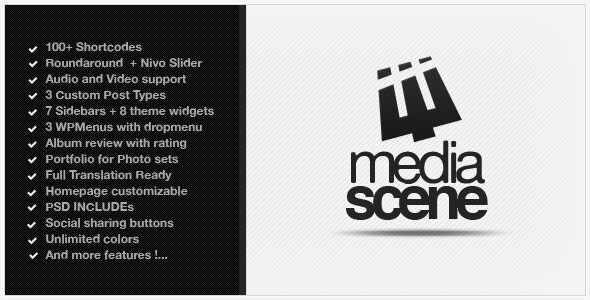 MediaScene Music Premium WordPress Theme